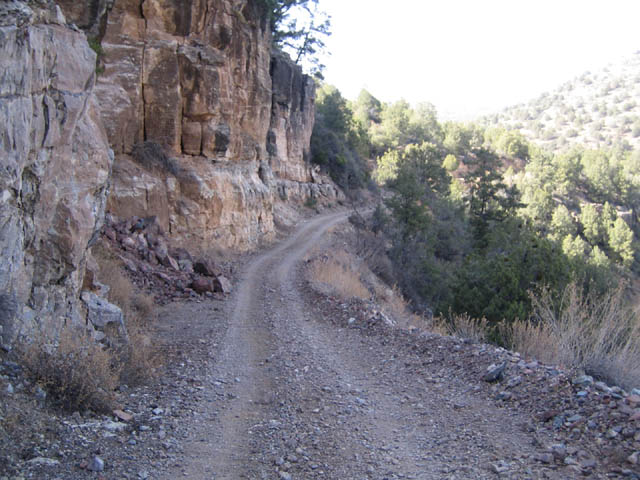 thin cliff road in arizona
