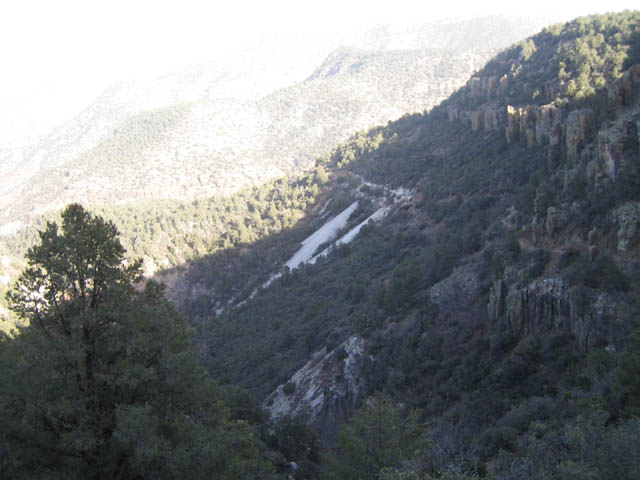 Dumps of the Asbestos Mines from the Canyon Walls