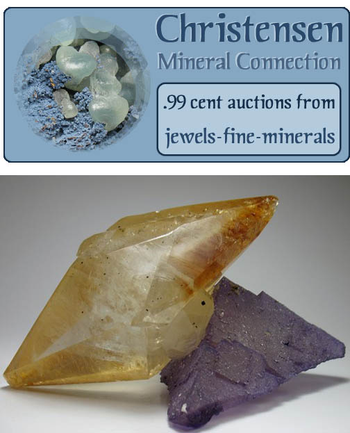Calcite and Fluorite from USA