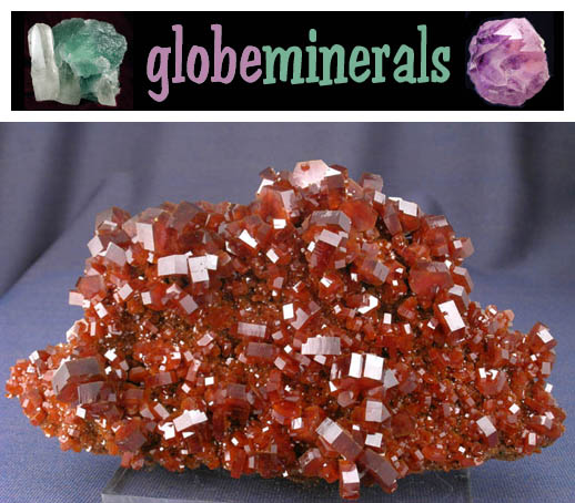 Vanadinite Cluster from Morocco