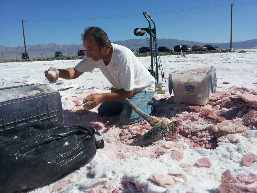 Stan from Midwest Minerals collecting Halite